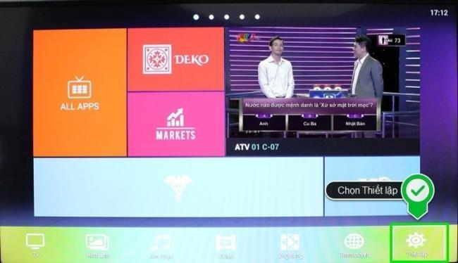 Zurücksetzen auf die Werkseinstellungen von Skyworth Smart TV