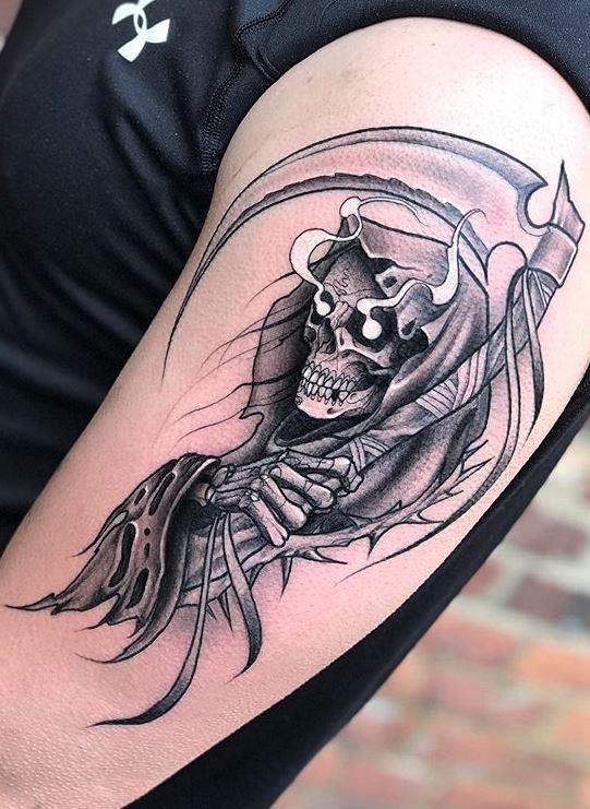 Sammlung von Death Tattoo Mustern - Tattoos für Menschen mit starken Persönlichkeiten