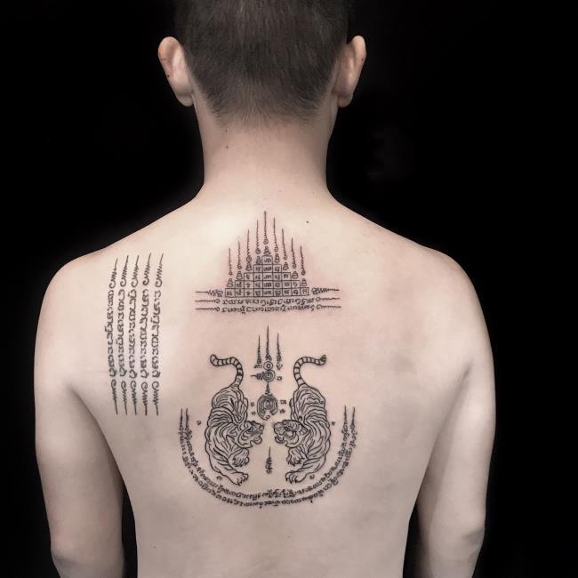 Koleksi corak tatu jimat Thai yang kebanyakan orang memilih untuk tatu