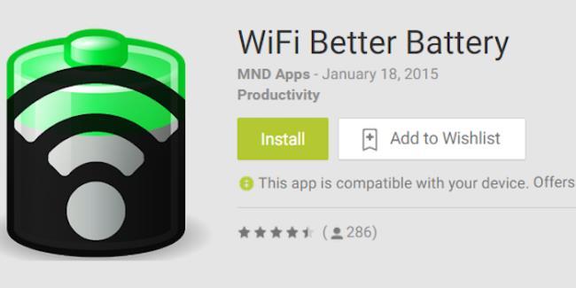 WiFi Better Battery - aplikasi yang membantu menjimatkan kuasa bateri ketika menggunakan wifi pada telefon pintar