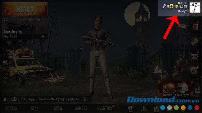 PUBG Mobile account to PUBG Mobile VN
