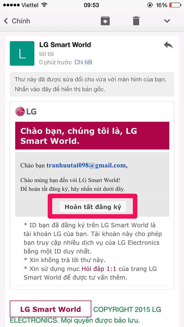 Petunjuk mengenai cara membuat akaun peribadi di LG TV pintar