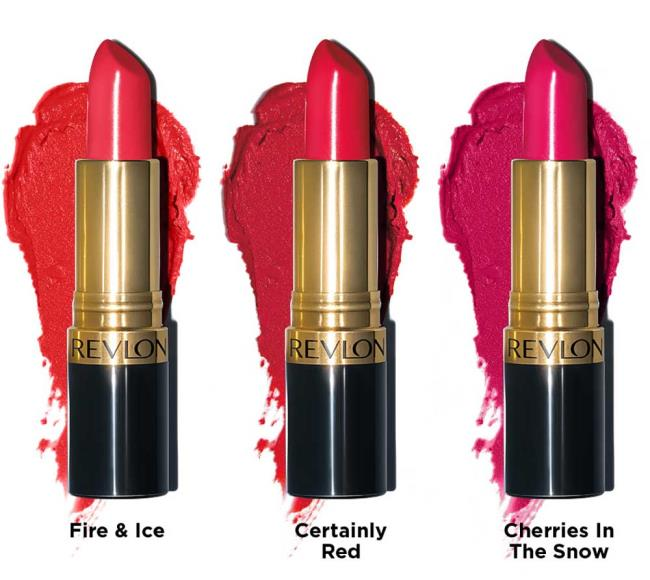 Revlon lipsticks The Marvelous Super Lustrous collection