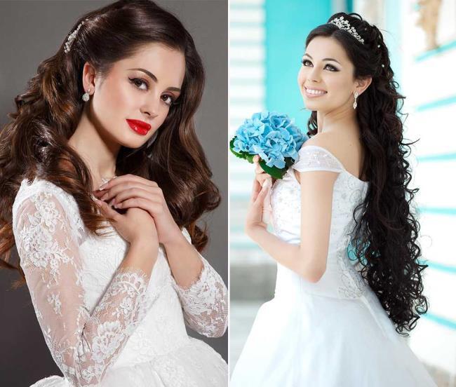 Loose hair wedding hairstyles: photos and ideas