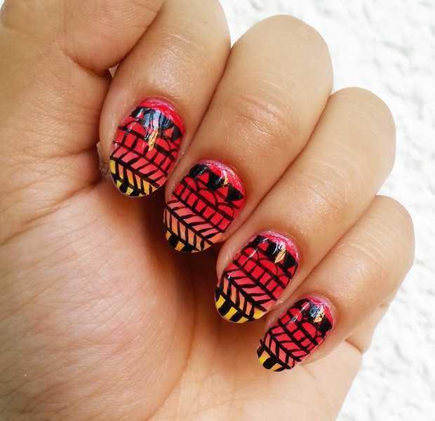 Tribal Nail Art: Tutorial with Pupa nail polishes