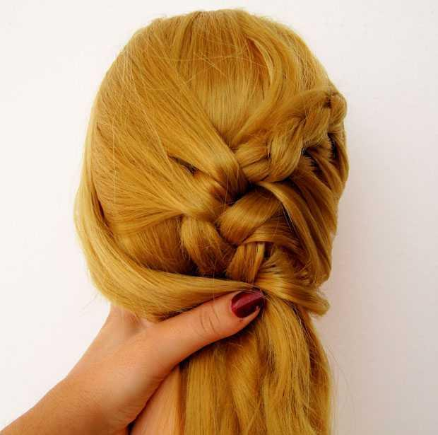 How to make the braid attached to the side head