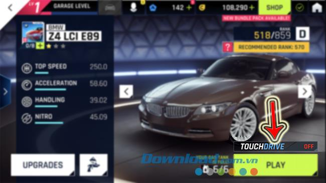 How to enable / disable TouchDrive mode when playing Asphalt 9: Legends