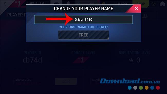 So ändern Sie den Namen im Spiel Asphalt 9: Legends