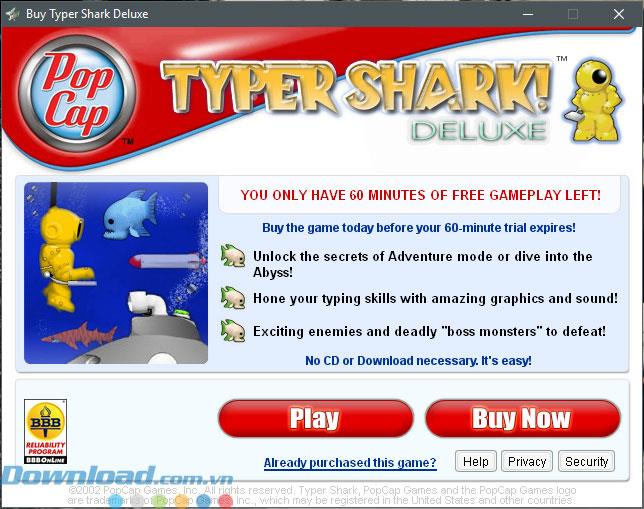 Instructions for downloading and installing Typer Shark Deluxe on your computer
