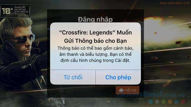 Instructions to play Crossfire Legends on the phone