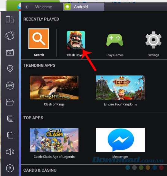 How to install the game Clash Royale for Vietnamese gamers