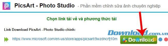 Anweisungen zum Herunterladen und Installieren von PicsArt