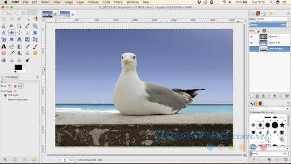 تعليمات لتغيير صورة الخلفية باستخدام برنامج جيمب