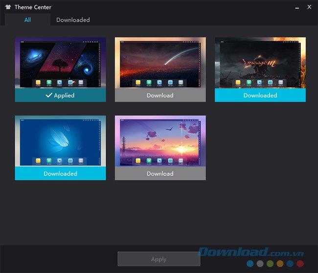 كيفية تغيير الواجهة والموضوع لمحاكي NoxPlayer