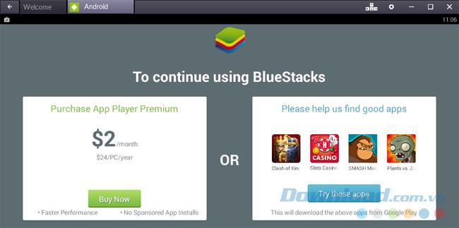 Dua cara untuk memadam aplikasi di BlueStacks