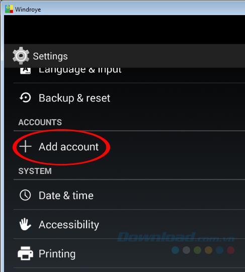 كيفية تسجيل الدخول وتسجيل الخروج من حساب Google الخاص بك على محاكي Windroy