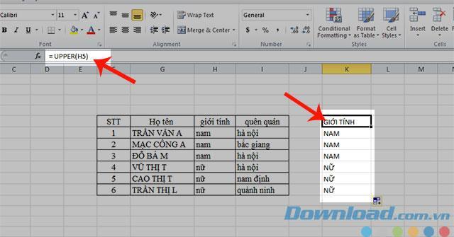 Bagaimana untuk menukar huruf besar dan kecil dalam Excel
