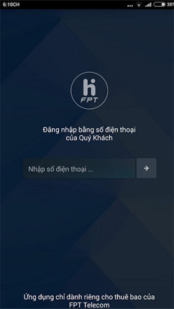 Anweisungen zum Ändern des FPT-WLAN-Passworts mit der Hi-FPT-Anwendung