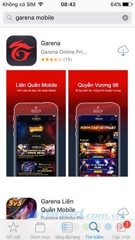 Anweisungen zur Installation und Verwendung von GAS Garena auf dem iPhone