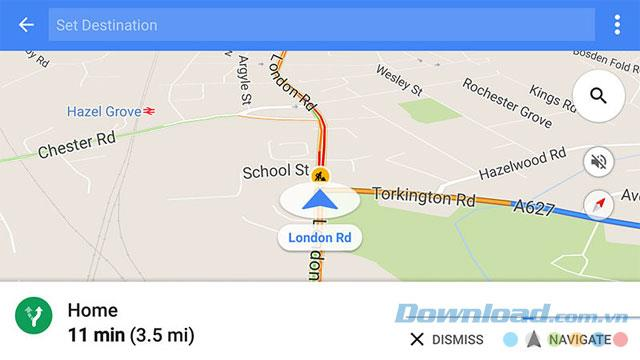 نحوه استفاده از حالت رانندگی در Google Maps