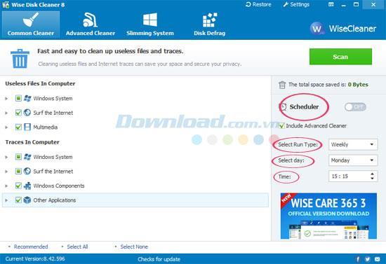 نصائح لتنظيف محرك الأقراص وإلغاء تجزئته باستخدام Wise Disk Cleaner