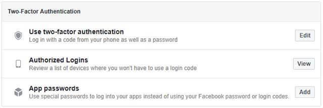 نحوه ورود به فیس بوک در هنگام از دست دادن دسترسی به Code Generator