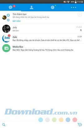 كيفية حظر إخطارات الدردشة Zalo