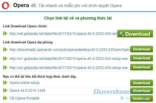 الدردشة WhatsApp مع Opera