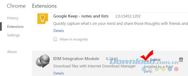 How to turn on and off IDM on Chrome, Firefox, Internet Explorer