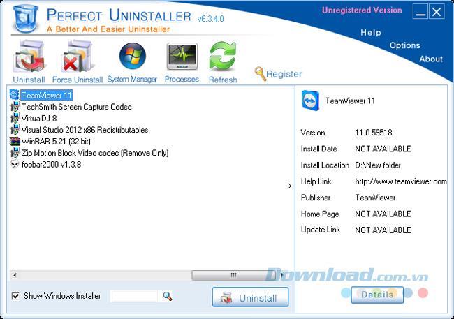 Arahan mengenai cara membuang TeamViewer sepenuhnya dari komputer
