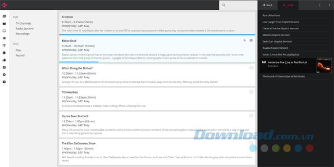 استخدم واجهة الويب Kodi لتشغيل الوسائط
