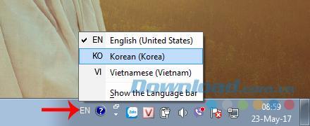 قم بتثبيت لوحة المفاتيح الكورية لنظام التشغيل Windows 7 و Windows 8 و Windows XP