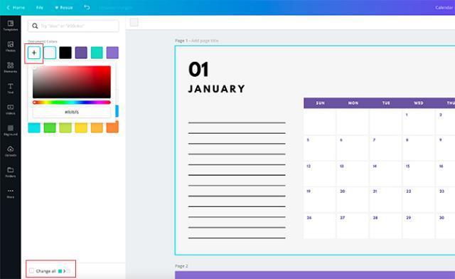 صمم التقويم الخاص بك باستخدام Canva
