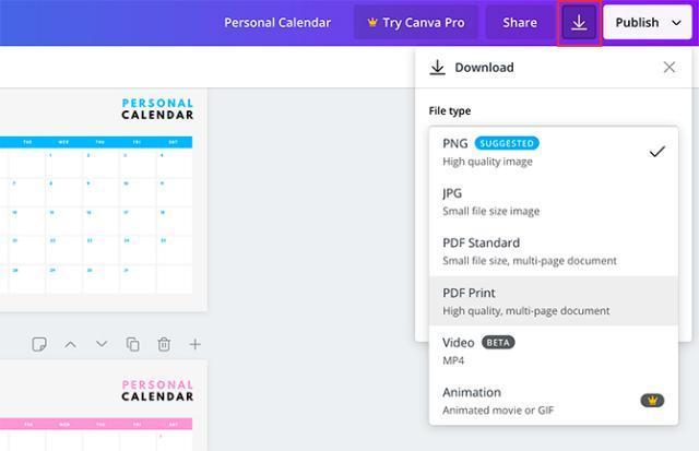 Reka bentuk kalendar anda sendiri menggunakan Canva