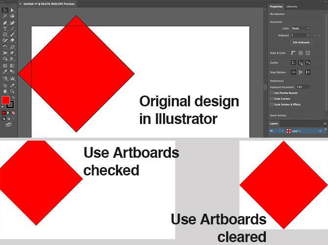 Cara menyimpan fail Adobe Illustrator dalam format selain AI