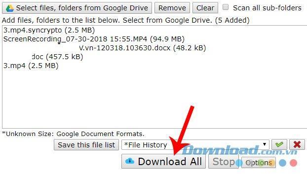 نحوه بارگیری فایل ها در Google Drive بدون فشرده سازی