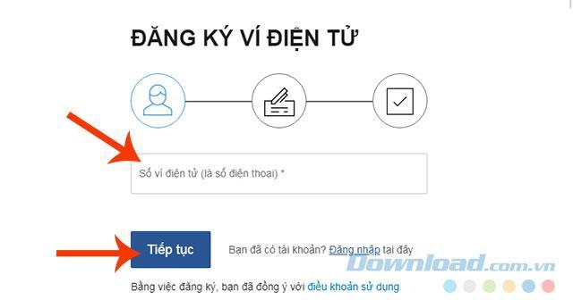 Anweisungen zur Registrierung eines VTC Pay-Kontos