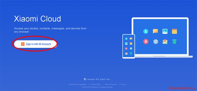 Instruction to register an MI Cloud account for lifetime data storage