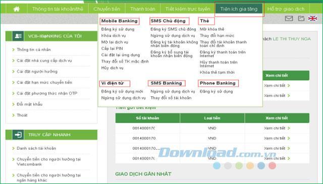Leitfaden zur Registrierung und Nutzung des Internet Banking von Vietcombank