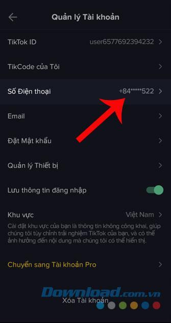 دستورالعمل تغییر شماره تلفن در Tik Tok