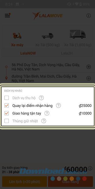 كيفية استخدام Lalamove لحجز سيارة توصيل على هاتفك