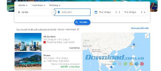 دستورالعمل برای یافتن و رزرو پروازهای ارزان قیمت با پروازهای Google