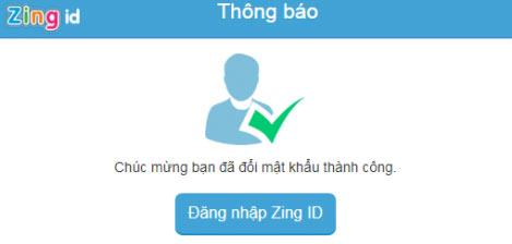 Instructions for changing passwords, enhancing Zing ID account security