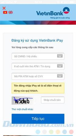 Vietinbank iPay: كيفية التسجيل واستخدام حساب Vietinbank