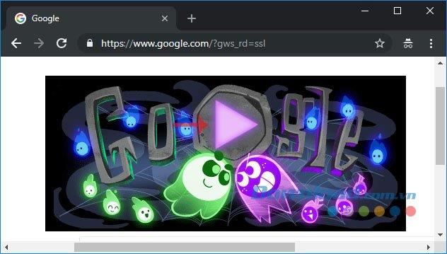 العب ألعاب الهالوين مباشرة على Google