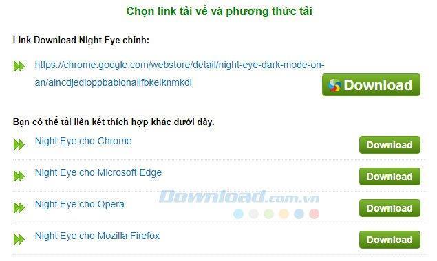 Chrome、Firefox、Opera、Microsoft Edge、Night Eyeで夜間モードをオンにする
