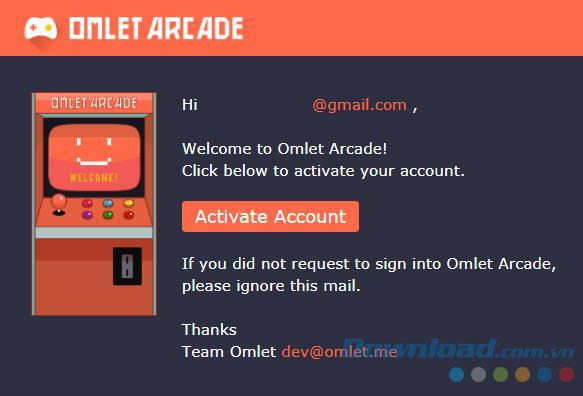 Omlet Arcadeアカウントを設定する方法