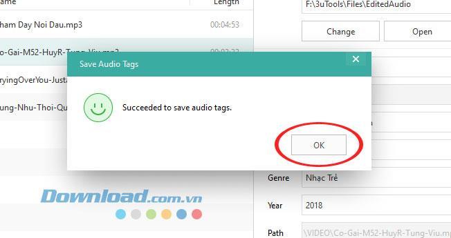 كيفية تعديل معلومات ملف الموسيقى باستخدام 3uTools