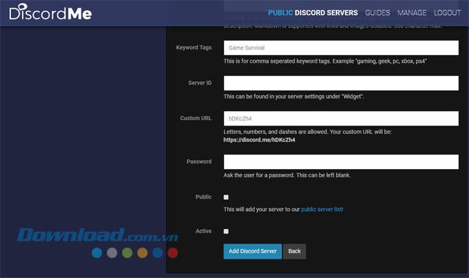 How to add a server on Discord to Discord.me