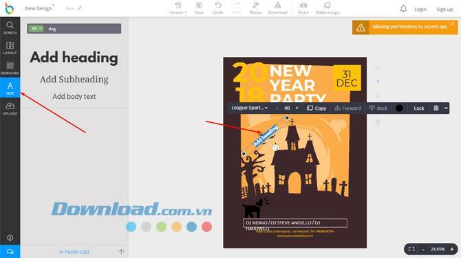 تصميم لافتة ، بطاقة ، دعوة عبر الإنترنت مع DesignBold